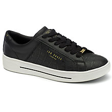 Buy Ted Baker Bween Leather Trainers, Black Online at johnlewis.com