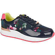 Buy Ted Baker Pressya Printed Trainers, Fuchsia Print Online at johnlewis.com