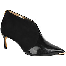 Buy Ted Baker Hainns Suede Pointed Ankle Boots, Black Online at johnlewis.com
