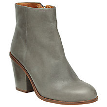 Buy Kin by John Lewis Polina Block Heeled Ankle Boot, Grey Leather Online at johnlewis.com