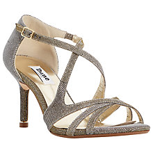 Buy Dune Marilyn Occasion Cross Strap Sandals, Gold Online at johnlewis.com
