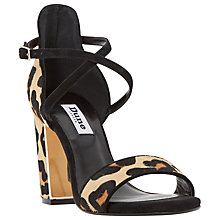 Buy Dune Maybell Block Heel Crossover Strap Sandals Online at johnlewis.com