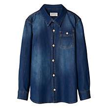 Buy Mango Kids Boys' Denim Shirt, Dark Blue Online at johnlewis.com
