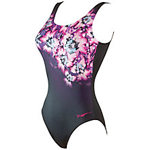 Buy Zoggs Swim Safari Scoopback Swimsuit, Pink Online at johnlewis.com