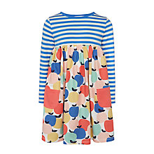 Buy John Lewis Girls' Half and Half Print Dress, Multi Online at johnlewis.com