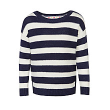 Buy John Lewis Girls' Long Sleeve Stripe Jumper, Navy/Cream Online at johnlewis.com