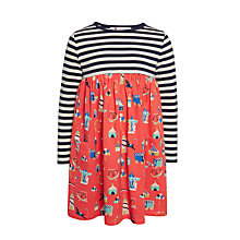 Buy John Lewis Girls' Half Print Dress, Multi Online at johnlewis.com