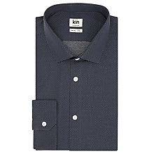 Buy Kin by John Lewis Nieves Dot Print Woven Shirt, Navy Online at johnlewis.com