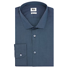 Buy Kin by John Lewis End on End Slim Fit Shirt, Petrol Online at johnlewis.com