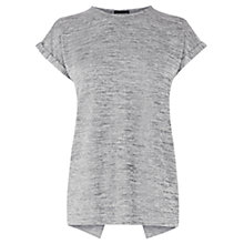 Buy Warehouse Colour Metal Wrap Tee, Silver Online at johnlewis.com