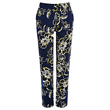 Buy Warehouse Pattern Giant Floral Trousers, Blue Online at johnlewis.com