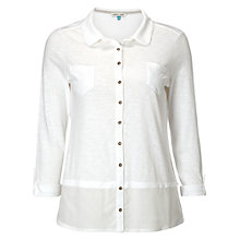 Buy White Stuff Melinka Jersey Shirt, White Online at johnlewis.com
