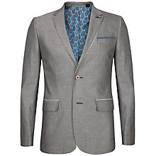 Buy Ted Baker Veerity Diamond Jacquard Suit Jacket, Grey Online at johnlewis.com