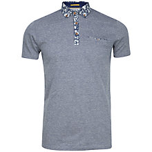 Buy Ted Baker Crayg Floral Print Collar Polo Shirt Online at johnlewis.com