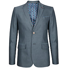 Buy Ted Baker Veerity Diamond Jacquard Suit Jacket, Light Blue Online at johnlewis.com