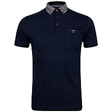 Buy Ted Baker Allfor Floral Print Collar Polo Shirt, Navy Online at johnlewis.com