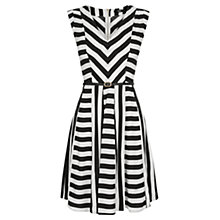 Buy Oasis Cut About Stripe V-Neck Dress, Multi Online at johnlewis.com