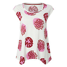Buy White Stuff Laila Spot Tee, Hibiscus Pink Online at johnlewis.com