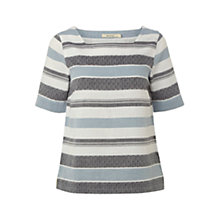 Buy White Stuff Rowan Top, Uniform Blue Online at johnlewis.com