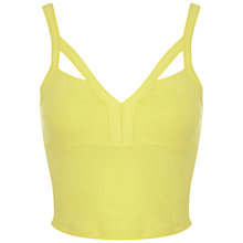 Buy Miss Selfridge Strap Bra Top, Yellow Online at johnlewis.com