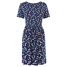Buy Oasis Floral Print Dress, Navy Online at johnlewis.com