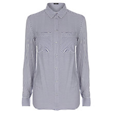 Buy Oasis Stripe Shirt, Multi Blue Online at johnlewis.com