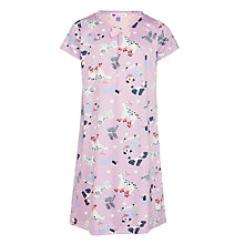 Buy John Lewis Girls' Dog Print Short Sleeve Nightdress, Purple Online at johnlewis.com
