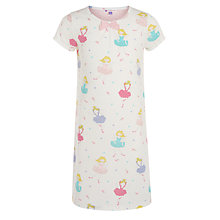 Buy John Lewis Girls' Fairy Print Short Sleeve Nightdress, Pink Online at johnlewis.com