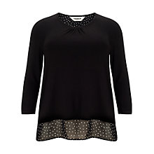 Buy Studio 8 Joanna Spot Top, Black Online at johnlewis.com