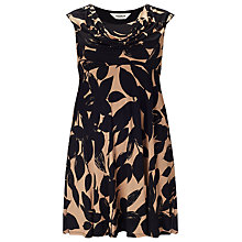 Buy Studio 8 Joey Floral Dress, Black / Camel Online at johnlewis.com