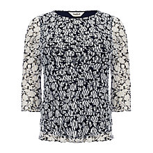 Buy Studio 8 Maeve Mesh Top, Navy/Ivory Online at johnlewis.com