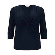 Buy Studio 8 Lydia Knot Detail Top, Navy Online at johnlewis.com