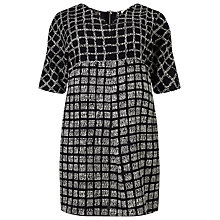 Buy Studio 8 Tamara Check Tunic Top, Black / White Online at johnlewis.com