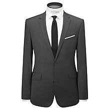 Buy Kin by John Lewis Cento Lux Crosshatch Slim Fit Suit Jacket, Graphite Online at johnlewis.com