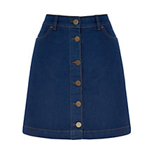 Buy Oasis Buttoned Mini Skirt, Denim Online at johnlewis.com