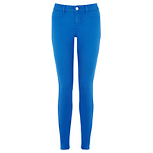 Buy Oasis Jade Stretch Skinny Coloured Crop Jeans, Mid Blue Online at johnlewis.com