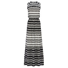 Buy Oasis Zanzibar Maxi Dress, Multi Black Online at johnlewis.com