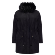Buy Studio 8 Faith Parka Coat, Black Online at johnlewis.com