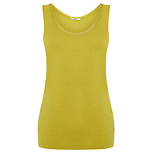 Buy Oasis Double Trim Vest, Ochre Online at johnlewis.com