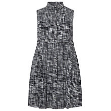 Buy Studio 8 Sally Shirt Dress, Black / White Online at johnlewis.com