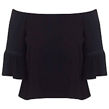 Buy Miss Selfridge Bardot Top, Black Online at johnlewis.com