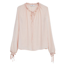 Buy Mango Flowy Blouse, Pastel Pink Online at johnlewis.com
