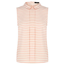 Buy Oasis Stripe Top, Mid Pink Online at johnlewis.com