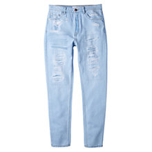Buy Mango High Waist Jeans, Light Blue Online at johnlewis.com