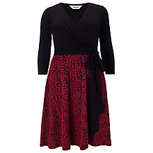 Buy Studio 8 Katy Wrap Top Dress, Black/Red Online at johnlewis.com