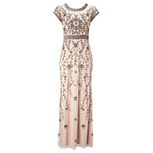 Buy Phase Eight Ursula Embroidered Full Length Dress, Champagne Online at johnlewis.com