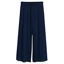 Buy Mango Palazzo Trousers, Navy Online at johnlewis.com
