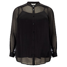 Buy Studio 8 Chiara Button Down Blouse, Black Online at johnlewis.com