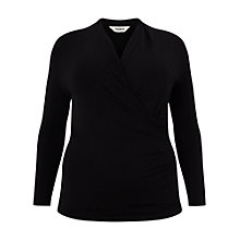 Buy Studio 8 Agatha Ruched Jersey Top, Black Online at johnlewis.com