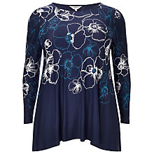 Buy Studio 8 Marian Printed Top, Navy Online at johnlewis.com